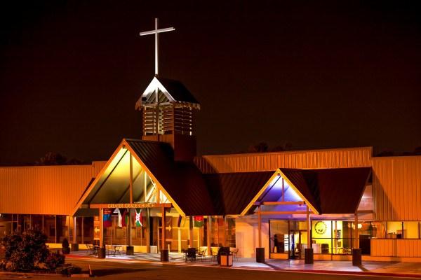 Kyrkan, Greater Grace World Outreach i Baltimore på Moravia Park drive.